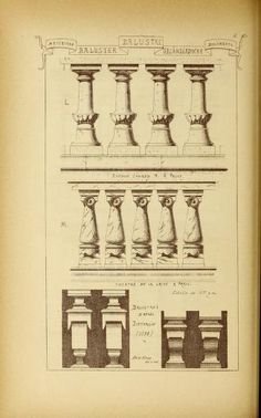 Materials and documents of architecture and scu. Neoclassical Architecture, Roman Architecture, Architecture Drawings, Architecture Details, Gothic Elements, Steinmetz, Geometry Art, Detailed Drawings, Sculpture
