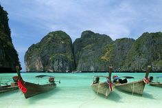 Koh Phi Phi Ley in Thailand, location for 'The Beach'.