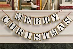 Merry Christmas Banner - Party Photo Prop -  Merry Christmas Sign - Merry Christmas Garland on Etsy, $20.00