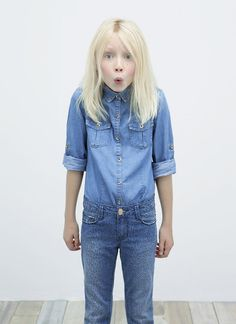 I definitely was never this cute Zara Kids, Zara Spain, Double Denim,  Document 33916fd42d7