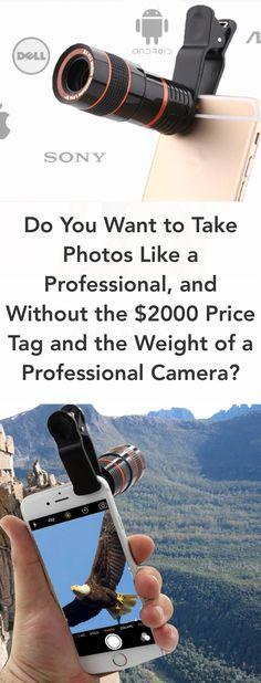 Zoom lens for camera phone Smartphone Fotografie, K Store, Professional Camera, Camera Hacks, Photography 101, Cool Tech, Camera Lens, Phone Lens, Camera Phone
