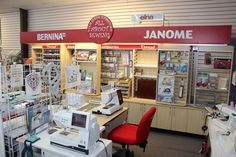 Mobile Alabama's One-stop Sewing Center! Sewing Equipment, Mobile Alabama, Shop Displays, Janome, Sewing Stores, Craft Stores, Quilt, Crafts, Diy