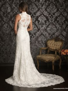 I love this Allure Bridals 9019 Vintage Lace Wedding Dress