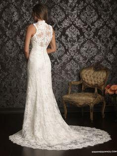 Allure Bridals 9019 Vintage Lace Wedding Dress_1