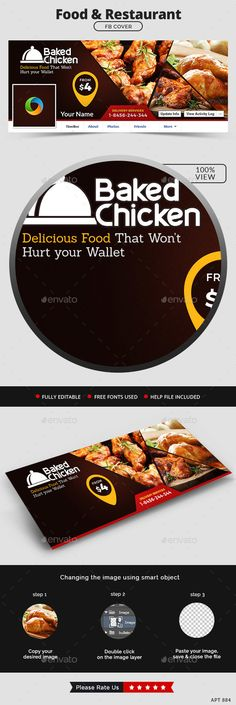 Food and Restaurant Facebook Cover — Photoshop PSD #coupon #facebook • Available here → https://graphicriver.net/item/food-and-restaurant-facebook-cover/12881061?ref=pxcr