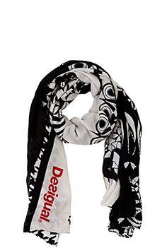 a1b40a56aa77e Desigual Geofresh - Foulard - Imprimé - Femme - Noir (Negro) - Taille  unique (Taille fabricant  Taille unique)