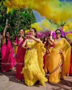 If you're a 2020 bride, we highly recommend playing around with silhouettes and colours for your mehndi! After all, you can have so much fun wearing something unique, an outfit that stands out, and l. Indian Wedding Outfits, Bridal Outfits, Wedding Looks, Wedding Bride, Wedding Lehnga, Bridal Sarees, Bridal Mehndi, Wedding Updo, Wedding Shoot