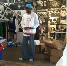 Tyler, the Creator in his dope as 'CHERRY BOMB' sweater Pretty Boy Swag, Pretty Boys, Tyler The Creator Outfits, Young T, I Gen, Flower Boys, Fashion 2018, Streetwear Fashion, Street Wear