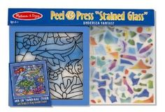"""Melissa & Doug Peel and Press """"Stained Glass"""" Undersea Fantasy by Melissa & Doug. $10.17. Premounted in ready to hang wooden frame. Follow the number key to place glittering stickers over the template. See-through sparkle-gem stickers shine when the light shows through. Develops concentration and fine motor skills. Includes everything you need to fill the picture no glue required. From the Manufacturer                This guided arts and crafts activity gives young artists every..."""