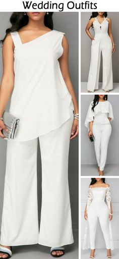 30 Cute Wedding/Party Outfits Jumpsuits For Alternative Dress Ideas . Latest Fashion For Women, Womens Fashion, Moda Plus Size, White Outfits, Clothing Patterns, African Fashion, Beautiful Outfits, Plus Size Outfits, Party Outfits