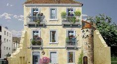 Mindenkit átver a házakat pingáló művész