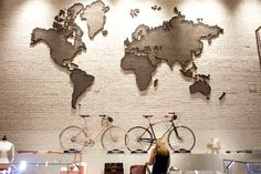 Shinola Flagship Store: 1930s Map Sculpture, Salvaged From An Oil Company Lobby In Rockefeller Center