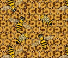 PRECIOUS BEES fabric by house_of_heasman on Spoonflower - custom fabric