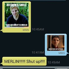 Smh #Merlin vs #Arthur