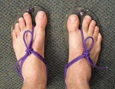 695d589bb35 How to tie huaraches barefoot running shoes. Three different tutorials and  ideas on tying your