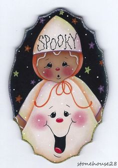 "HP GINGERBREAD ""Spooky"" Ghost FRIDGE MAGNET"