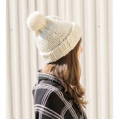 1c384fb52ae Endeavor Slouchy Pompom Knit Hat by 3 Firestones Crafts Pom Pom Beanie Hat