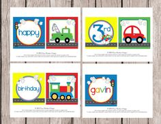 Personalized PRINTABLE On the Move Transportation Banner - DIY Printable - You Print - Cars, Train, Truck, Airplane on Etsy, $10.00