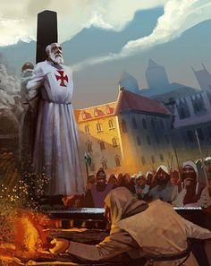 ON THIS DAY IN HISTORY – On 20th August, 1308, Pope Clement V pardoned Jacques de Molay, the last Grand Master of the Knights Templar, absolving him of charges of heresy. King Philip IV of France, deeply in debt to the Templars, had De Molay and many other French Templars arrested in 1307 and tortured into making false confessions. When De Molay later retracted his confession, Philip had him slowly burned upon a scaffold on an island in the River Seine in Paris, in March 1314.