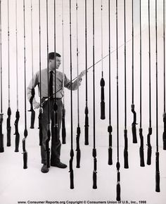"Fishing rods, 1957  An angler who wants to be ready for anything, we determine, should buy two good rods. One rod should be stiff enough to cast a heavy lure without ""overloading"" its tip; the other rod should be flexible enough to bend properly when the situation calls for a light lure."