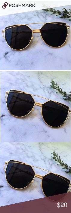 ✨HP✨ Black Mirrored Sunglasses, Cat Eye Sunglasses Fashion Faves HOST PICK! Cat Eye Aviator Sunglasses. This listing is for a pair of Cat Eye aviator sunshades. Black Mirrored Sunglasses. Retro. Sunglasses. Wire sunglasses. Trending sunglasses. UV protection. Top quality! Brand new! Bundle and save! Accessories Glasses