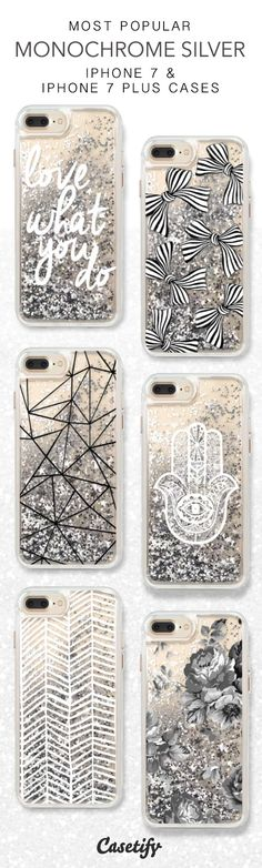 Most Popular Monochrome Silver iPhone 7 Cases here > https://www.casetify.com/collections/iphone-7-glitter-cases#/