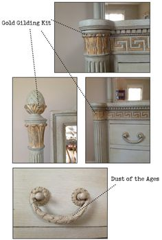 Furniture update using Amy Howard one step painting and gilding kit