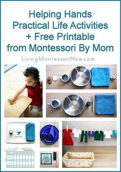Montessori Monday - Practical Life Activities + Free Printable from Montessori By Mom
