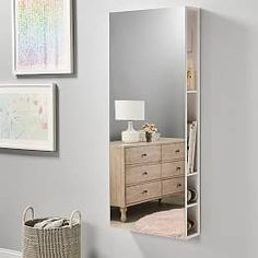 Get head-to-toe views of your before heading out the door with our full length mirror. Bonus points for the secret storage compartment —perfect for the minimalist. Full Mirror, Decor, Full Length Mirror With Storage, Study Furniture, Storage Mirror, Wall Cabinet, New Room, Home Decor, Adjustable Shelving