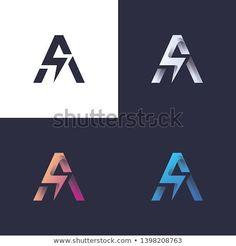 B letter logo with bolt/lightning / electric / power in 4 colors - Design Lightning Electric, Electric Power, Lettering Design, Logo Design, Identity Design, Electrician Logo, Lightning Bolt Logo, B Letter Logo, 4 Image