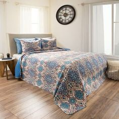 Full/Queen Reversible Alexandra Embossed Quilt Set Blue - Yorkshire Home Color: Multicolored. Full/Queen Reversible Alexandra Embossed Quilt Set Blue - Yorkshire Home Multicolored Unique Home Decor, Home Decor Items, Quilt Bedding, Bedding Sets, Blue Bedding, Yorkshire, Windsor Homes, Blanket Cover, Quilt Sets