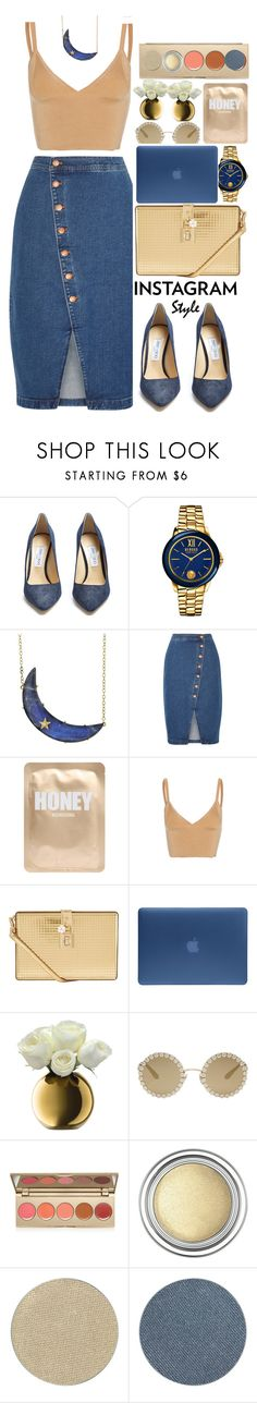 """0101"" by mykatty091 ❤ liked on Polyvore featuring Jimmy Choo, Versus, Andrea Fohrman, Madewell, Lapcos, Dion Lee, Dolce&Gabbana, Incase, LSA International and Stila"