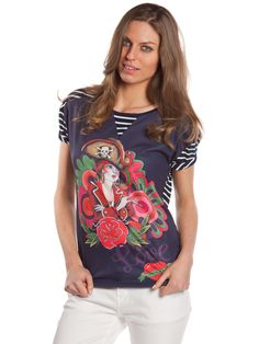 Camiseta Hacienda Azul Marino #camisetanavyblanca #estilomarinero #camisetaconpirata #navylook