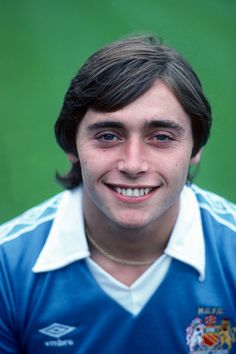 24 July 1979 - Manchester City Photocall - Mick Robinson of Manchester City - . Get premium, high resolution news photos at Getty Images Manchester City, Manchester Football, British Football, Football Cards, Football Players, World In Motion, Everton Fc, Liverpool Fc, First Love