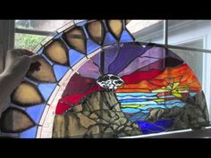 """Stained Glass Memorial of Mother by Maria Sheets:  Video with Frank's song """"Strawberry Song"""" and Gillian Welch's """"Revelator"""", process of making a large window over 1.5 months."""