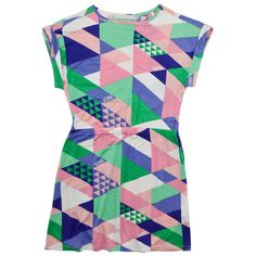 Printed viscose jersey dress