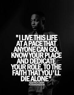 14 Best Kendrick lamar quotes images | Lyric Quotes, Rapper quotes