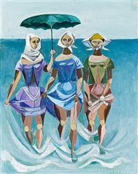 Paddlers, 1959, Elaine Alys Haxto