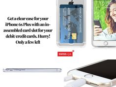 Don't carry an extra pouch for your get the new clear for your with an inbuilt card slot from Only a few left in the stock. Hurry and grab yours. Iphone 6 S Plus, 6s Plus, Slot, Iphone Cases, Pouch, Cards, Sachets, Iphone Case, Porch