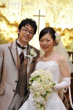 バラとアジサイのキャスケードブーケ @青山ダイヤモンドホール ys floral deco