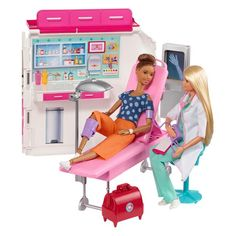 Barbie Care Clinic Vehicle Playset - Be Who You Wanna Be! Ken Doll, Barbie Doll Set, Barbie Sets, Toys For Girls, Kids Toys, Cosas American Girl, Barbie Doll Accessories, Lol Dolls, Barbie Furniture