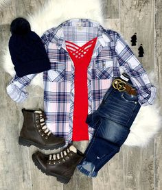Flannel Outfits, Jean Outfits, Casual Outfits, Cute Outfits, Plaid Flannel, Flannel Shirt, Casual Wear, Neo Grunge, Grunge Style