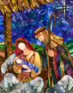 "Giclee reproduction of original watercolor painting ""One Silent Night"" frame Jill Cook at Blue Sky Watercolors - Etsy. Christmas Nativity, Christmas Art, Nativity Painting, Watercolor Paintings, Original Paintings, Church Banners, Contemporary Abstract Art, Wow Art, Christmas Paintings"