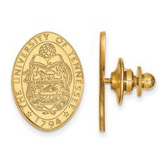 14ky LogoArt University of Tennessee Crest Lapel Pin