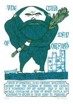 The Wildman of Orford (screenprint)