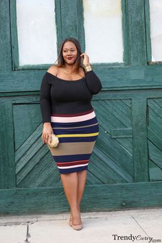 How many times have you heard that plus size women shouldn't wear stripes? It's usually one of the first…