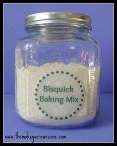 The Make Your Own Zone Homemade Bisquick Baking Mix Recipe - This may not be utterly AMAZING, but it has the best Basic Recipe along with optional additions that other recipes call for. Bisquick Baking Mix Recipe, Bisquick Recipes, Recipe For Baking Mix, Recipe Mixes, Recipe Box, Do It Yourself Fashion, Make It Yourself, Recipes Using Flour, Great Recipes
