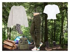 """""""Campeggio"""" by barbara-baiano on Polyvore featuring moda, Chloé, T By Alexander Wang, Timberland, Burberry, summercamp e 60secondstyle"""