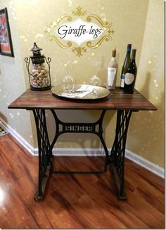 singer sewing table - I like this repurpose.