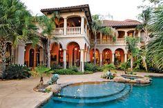 Spanish style mansion & herrenhaus im spanischen stil &.